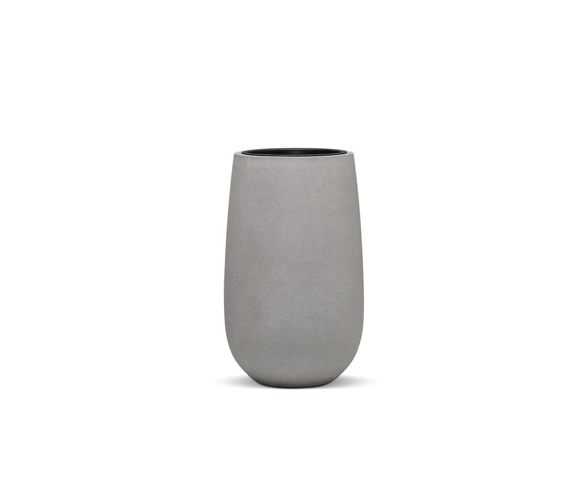 "Solros Tall Planter Rough Cement / 26""H - Scandinavian Designs"