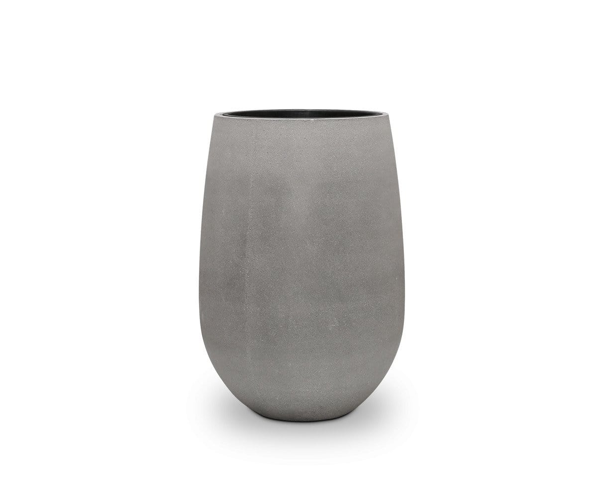 "Solros Tall Planter Rough Cement / 30""H - Scandinavian Designs"