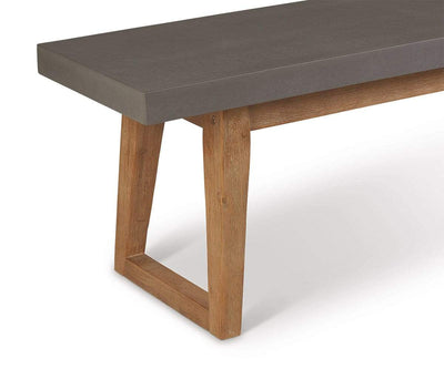 Atlas Dining Bench Natural Cement/Natural Acacia - Scandinavian Designs