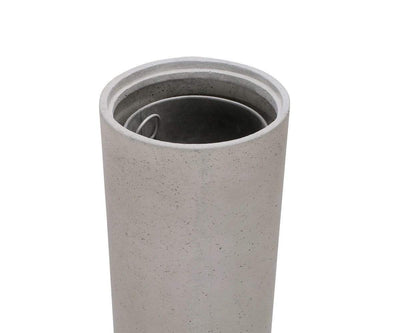 Dokkr Trash Bin Natural Concrete - Scandinavian Designs