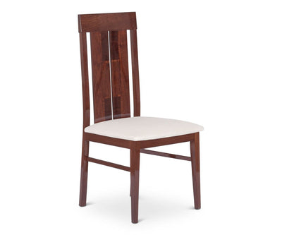 Pisa Dining Chair WALNUT HIGH GLOSS - Scandinavian Designs