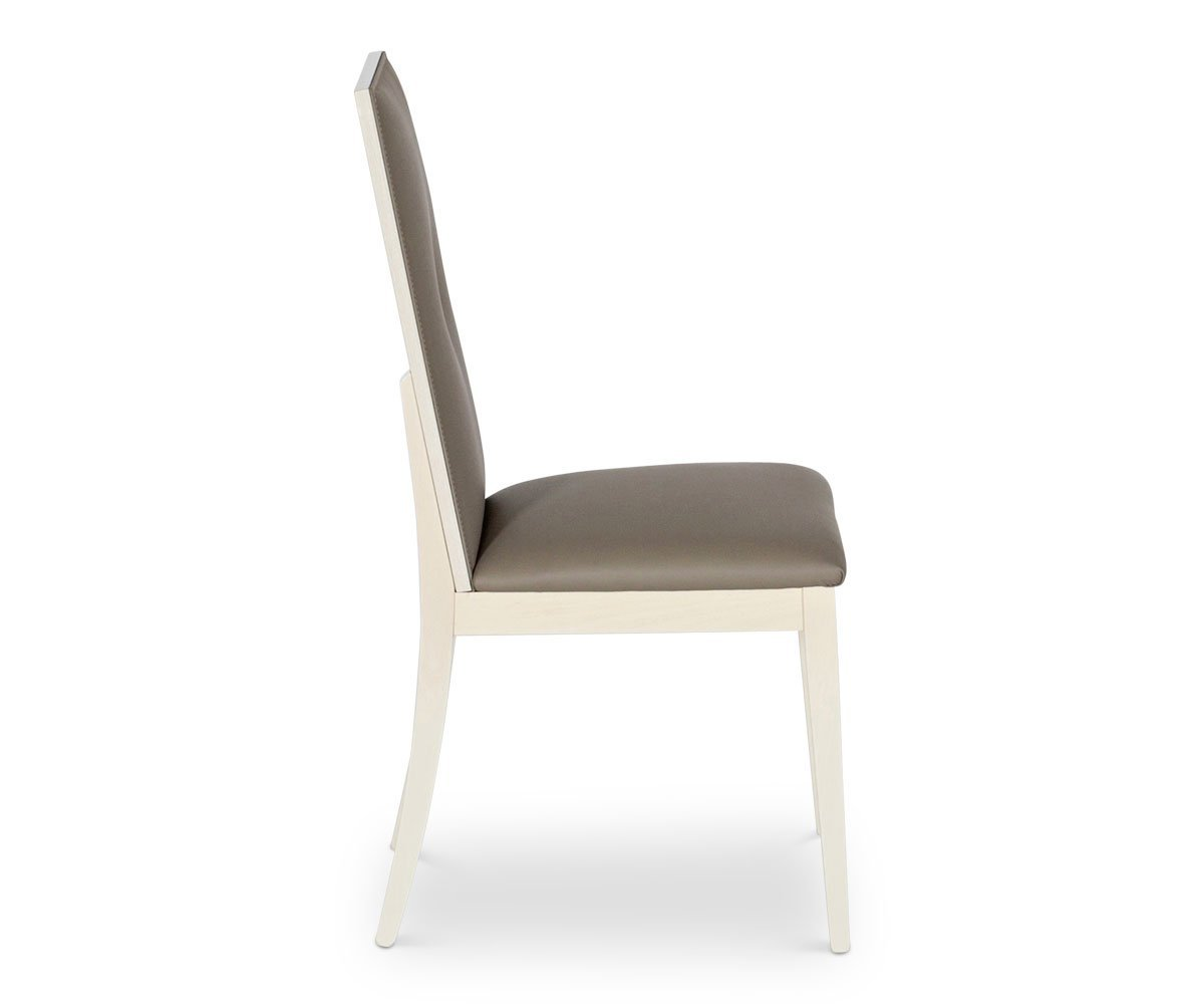 Monchiaro Dining Chair High Gloss Light Grey - Scandinavian Designs