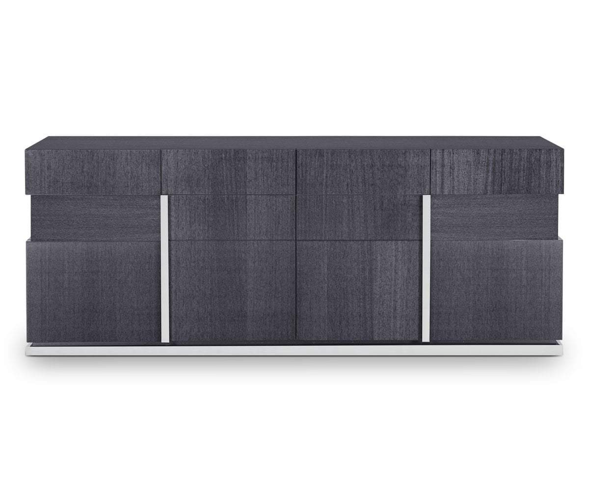 Mondiana 4-Door Sideboard High Gloss Grey - Scandinavian Designs