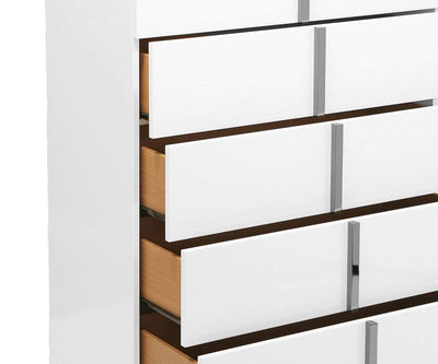 Palermo High Chest White High Gloss - Scandinavian Designs