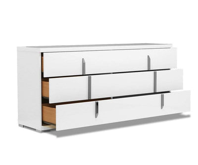 Palermo Double Dresser Palermo White High Gloss - Scandinavian Designs