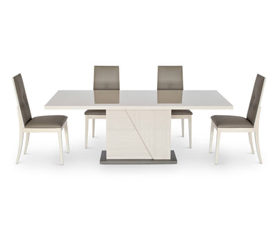 Monchiaro Dining Table High Gloss Light Grey - Scandinavian Designs