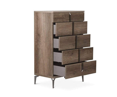 Akana High Chest High Gloss Brown - Scandinavian Designs