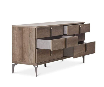 Akana Double Dresser High Gloss Brown - Scandinavian Designs