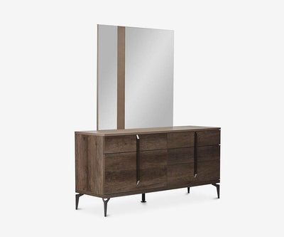 Akana Mirror High Gloss Brown - Scandinavian Designs