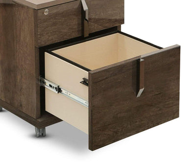 Akana Mobile File Pedestal High Gloss Brown - Scandinavian Designs