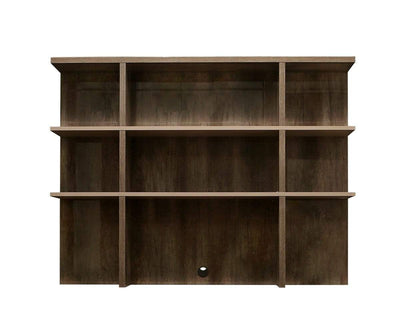 Akana Credenza Hutch High Gloss Brown - Scandinavian Designs