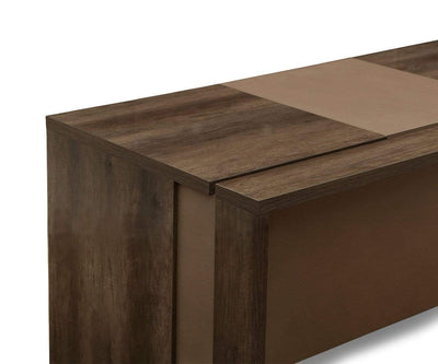 "Akana 71"" Desk High Gloss Brown - Scandinavian Designs"