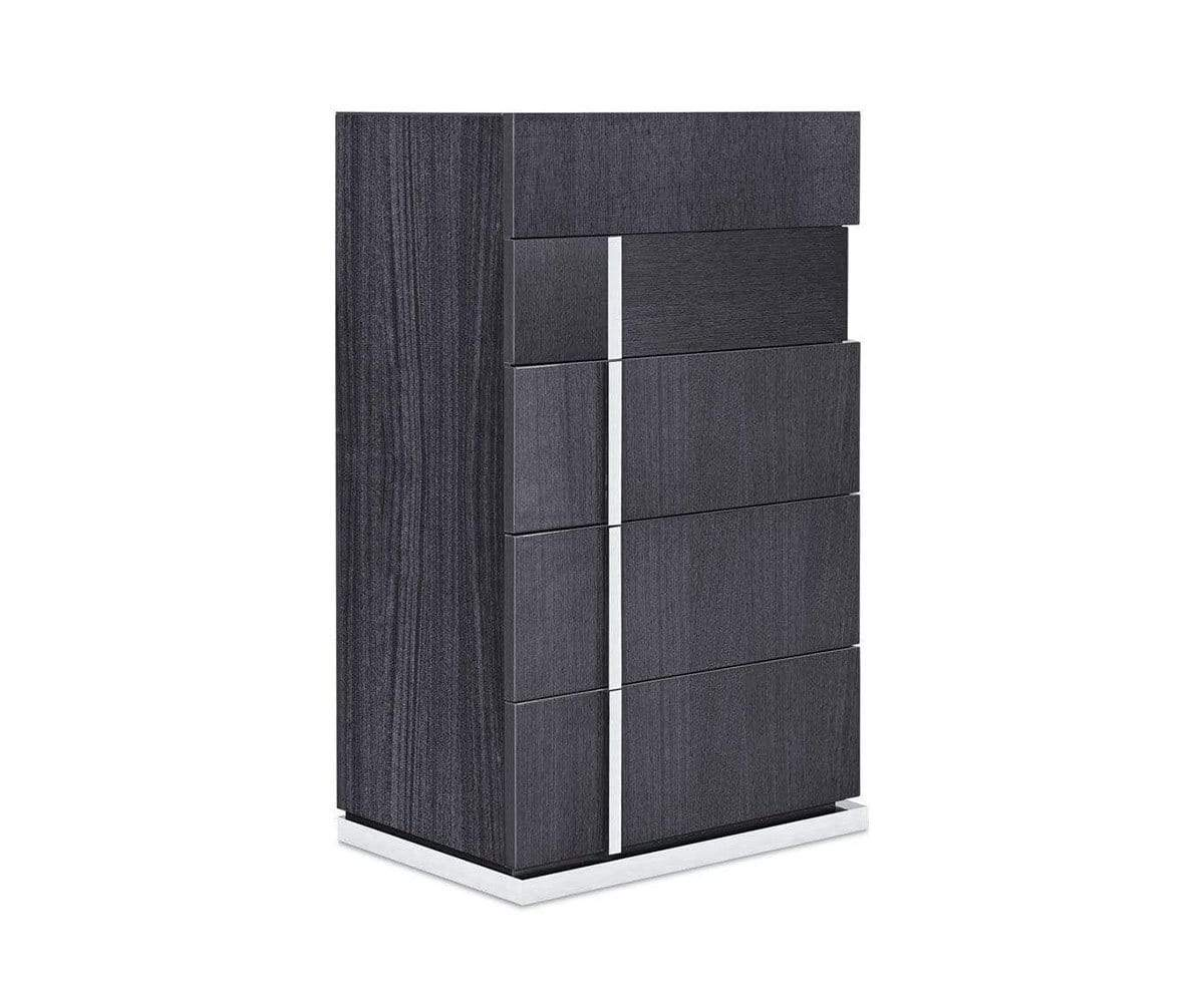 Mondiana High Chest High Gloss Grey - Scandinavian Designs
