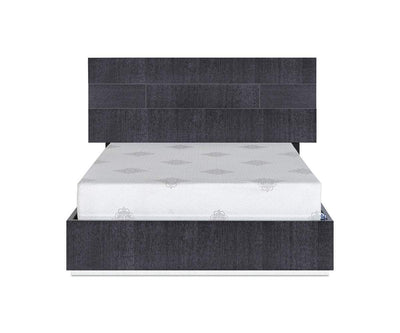 "Mondiana Bed High Gloss Grey / QUEEN (76W"" x 87""D x 49""H"") - Scandinavian Designs"