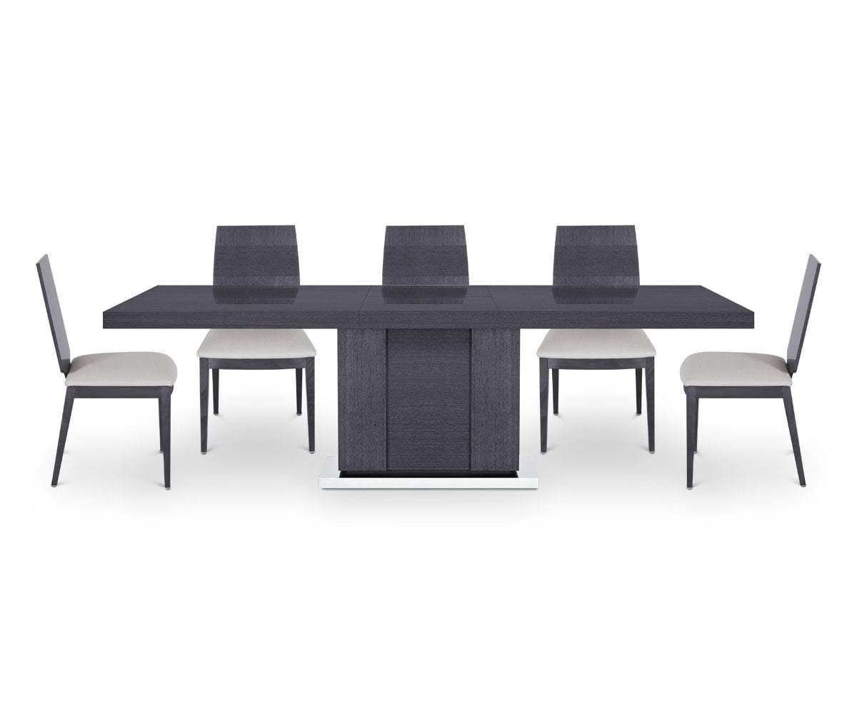 Mondiana Extension Dining Table High Gloss Grey - Scandinavian Designs