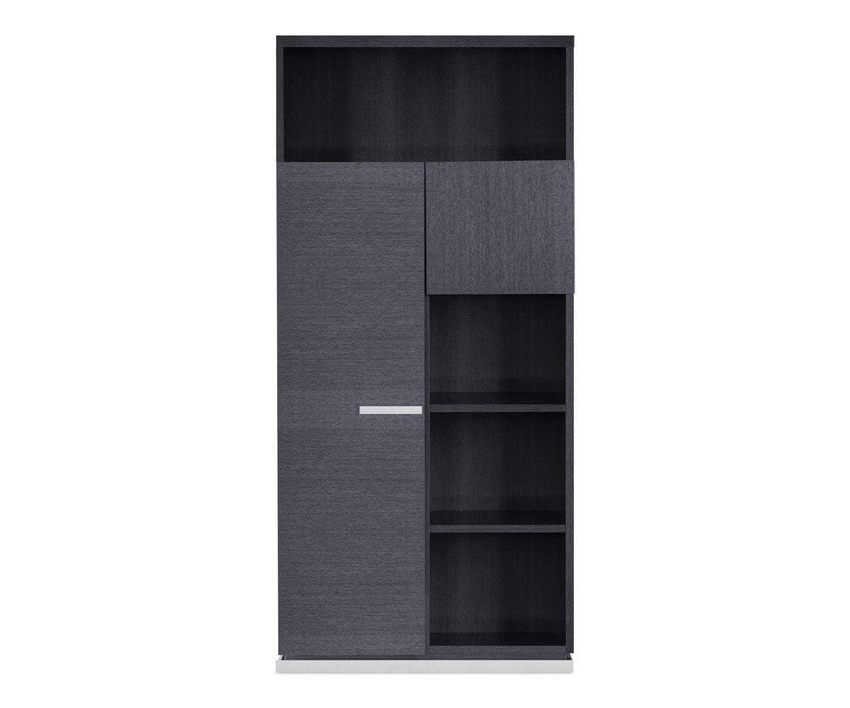 Mondiana Bookcase High Gloss Grey - Scandinavian Designs
