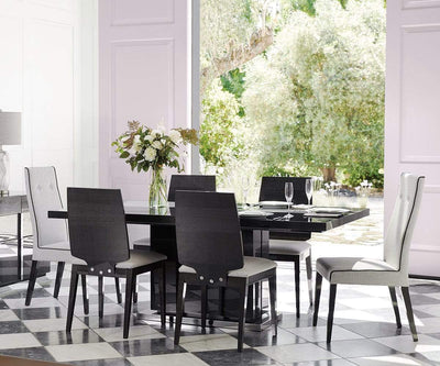 Mondiana Wood Back Dining Chair High Gloss Grey - Scandinavian Designs
