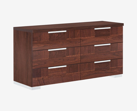 Modern elegant high gloss wood double dresser