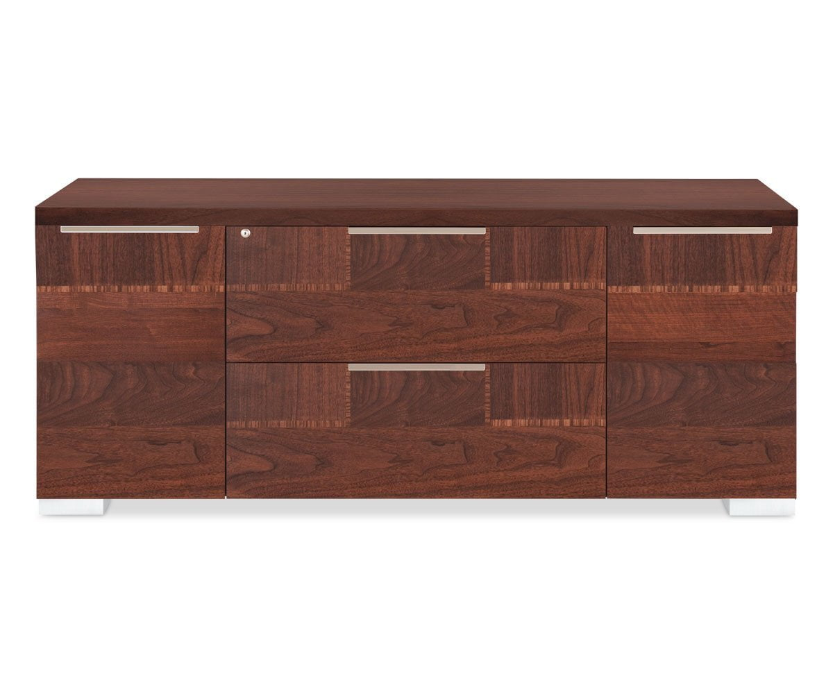 Pisa Credenza WALNUT HIGH GLOSS - Scandinavian Designs