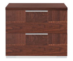 Pisa Lateral File Cabinet WALNUT HIGH GLOSS - Scandinavian Designs