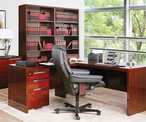 "Pisa 71"" Desk WALNUT HIGH GLOSS - Scandinavian Designs"