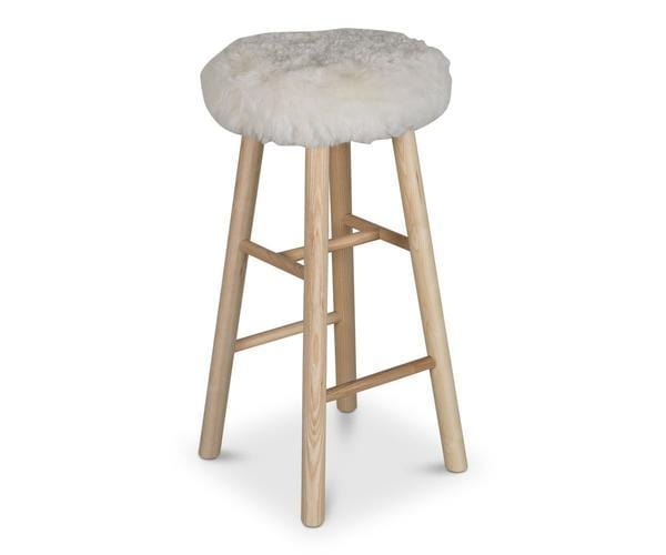 Hallie Bar Stool WHITE - Scandinavian Designs