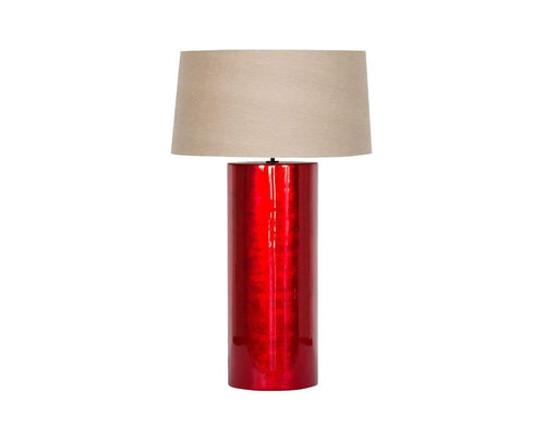 Glossy modern art deco table lamp