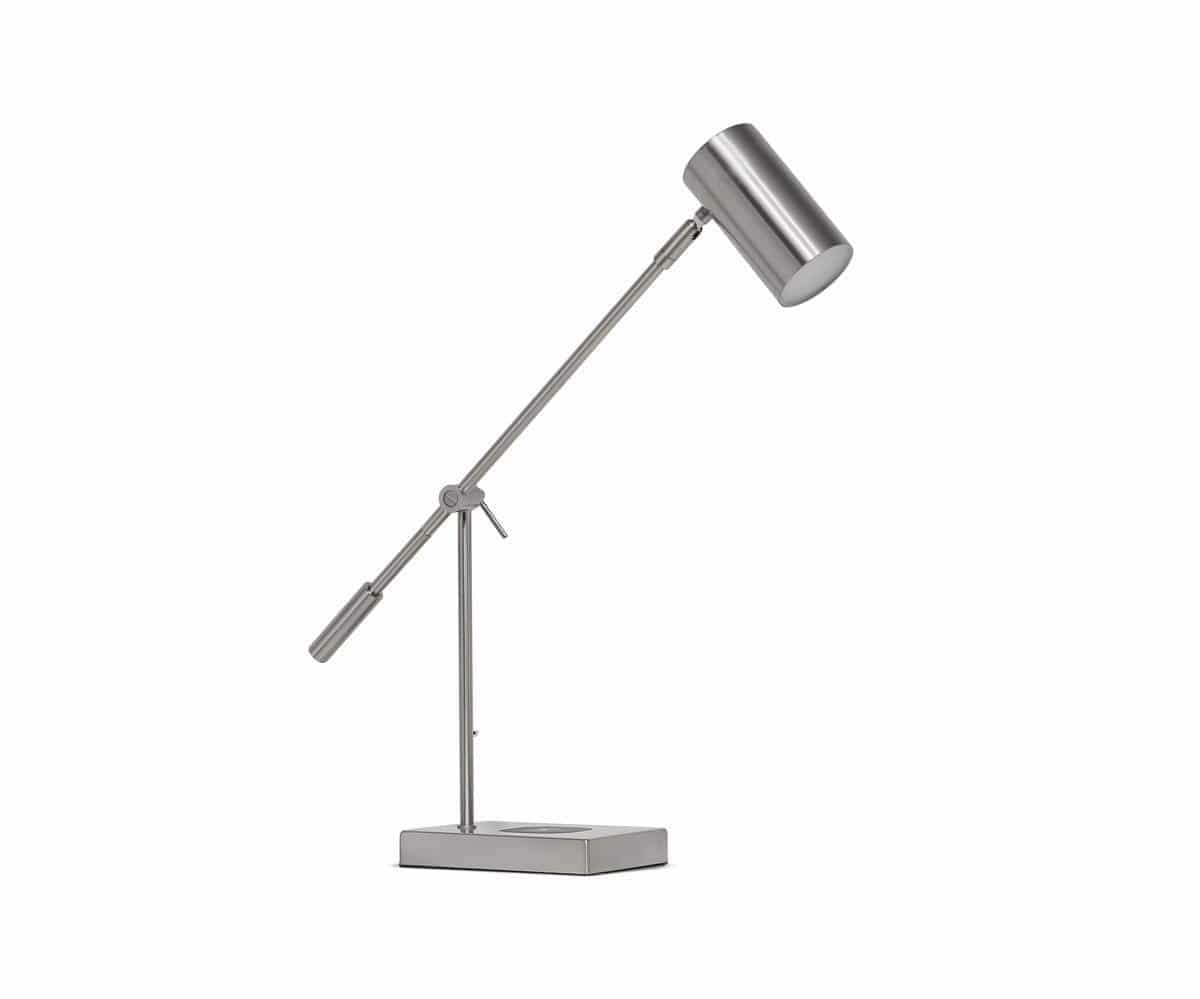 Collette Desk Lamp with USB Port Steel - Scandinavian Designs