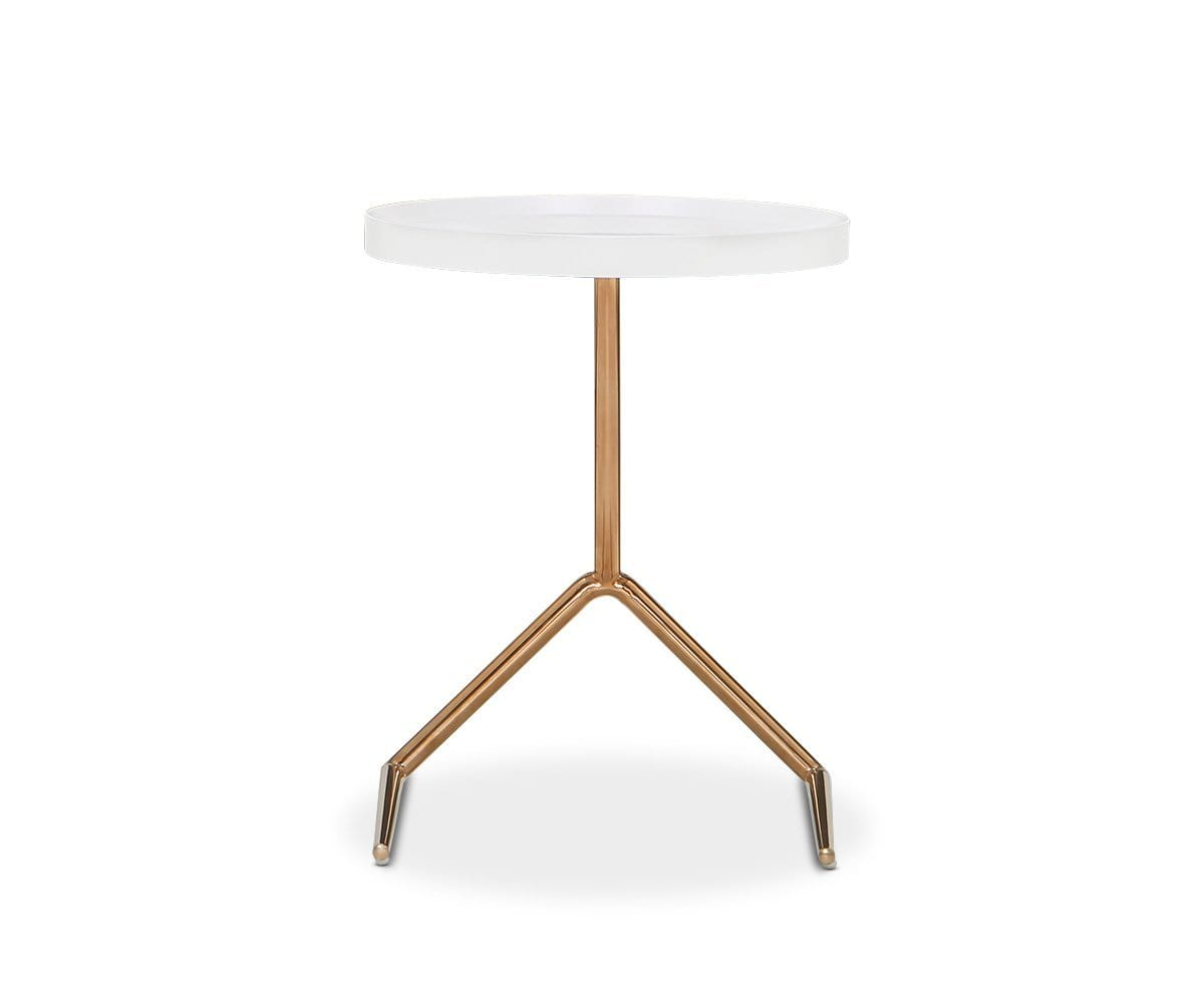 Nome End Table White - Scandinavian Designs