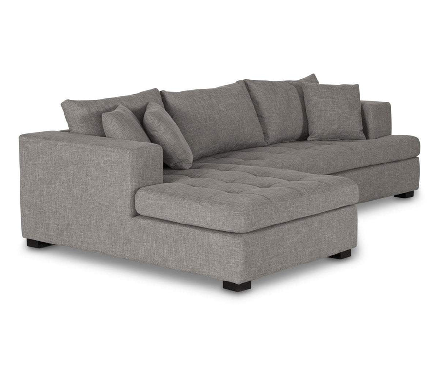 Mirak Right Chaise Seated Sectional - Light Brown