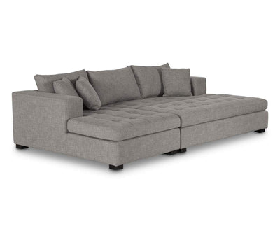 Mirak Right Chaise Seated Sectional - Light Brown LIGHT BROWN DH1311C-6 - Scandinavian Designs