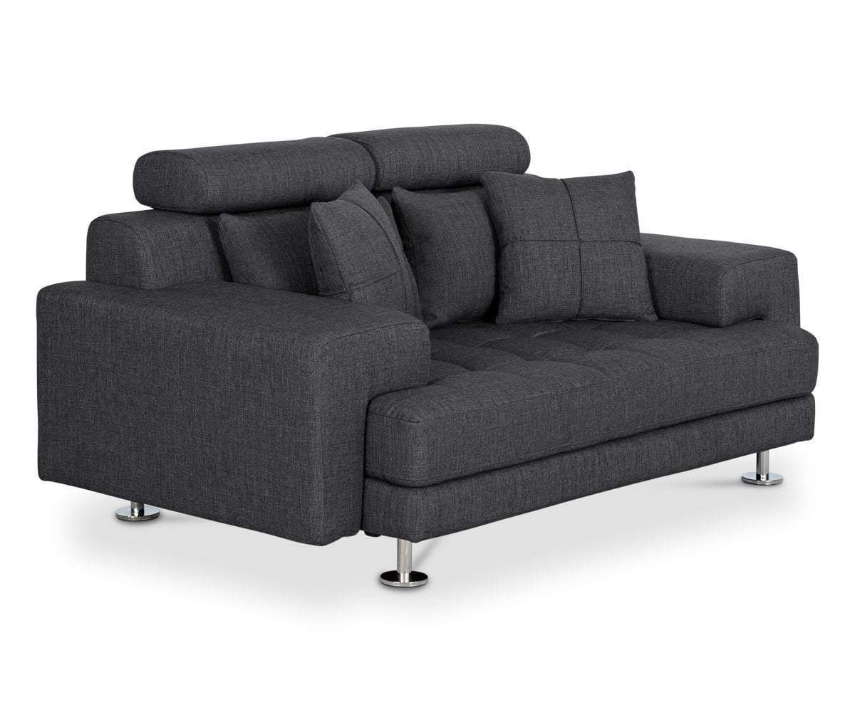 Modern Tufted Grey Sofa