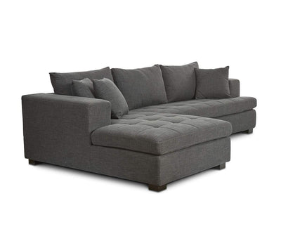 Mirak Right Chaise Seated Sectional CHARCOAL Dh1311c-33 - Scandinavian Designs