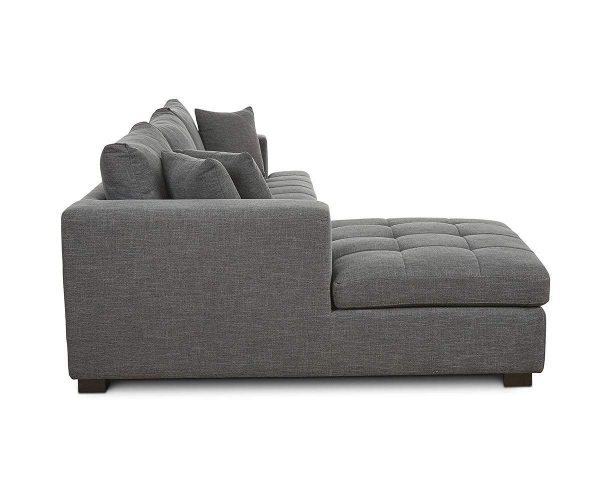 Mirak Right Chaise Seated Sectional - Scandinavian Designs