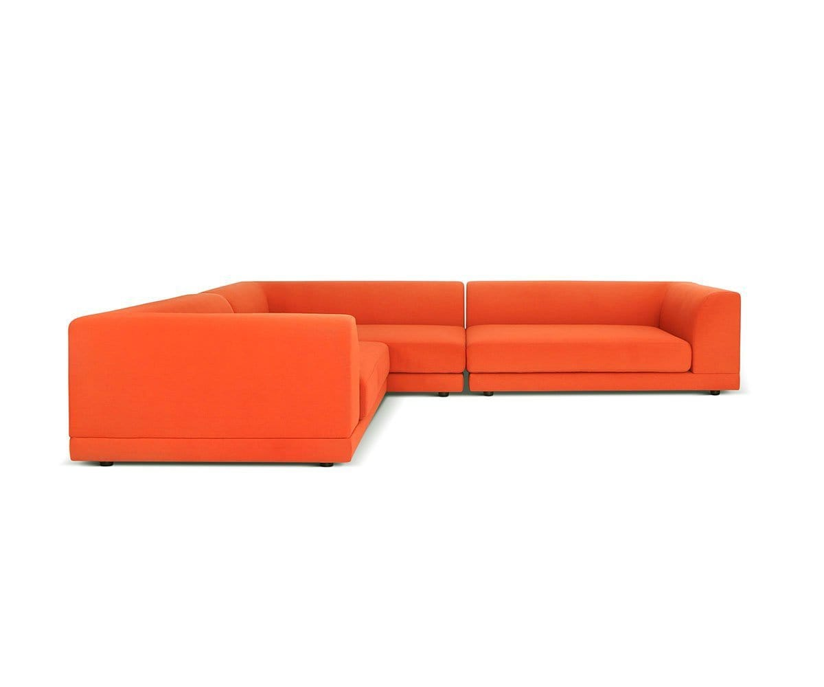 Tysse 3pc Sectional Orange VLP418-19 - Scandinavian Designs