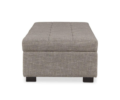 Mirak Storage Ottoman - Light Brown LIGHT BROWN DH1311C-6 - Scandinavian Designs