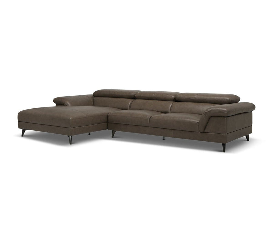 Quaid Leather Left Chaise Sectional