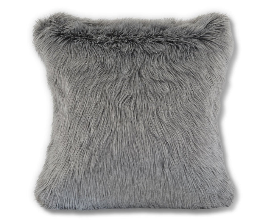 Rorik Faux Fur Pillow Cover - Grey