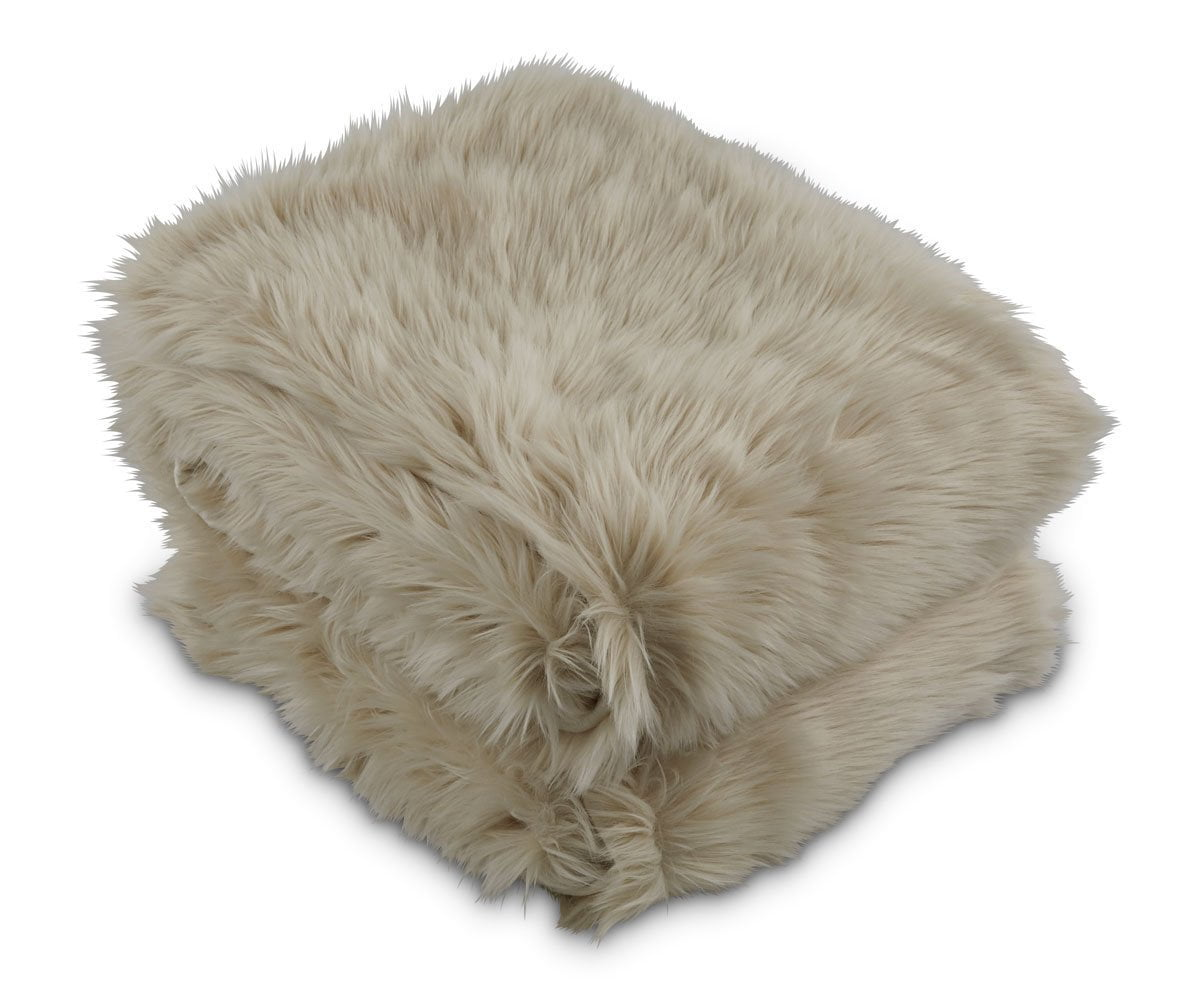 Rorik Faux Fur Throw -Beige - Scandinavian Designs