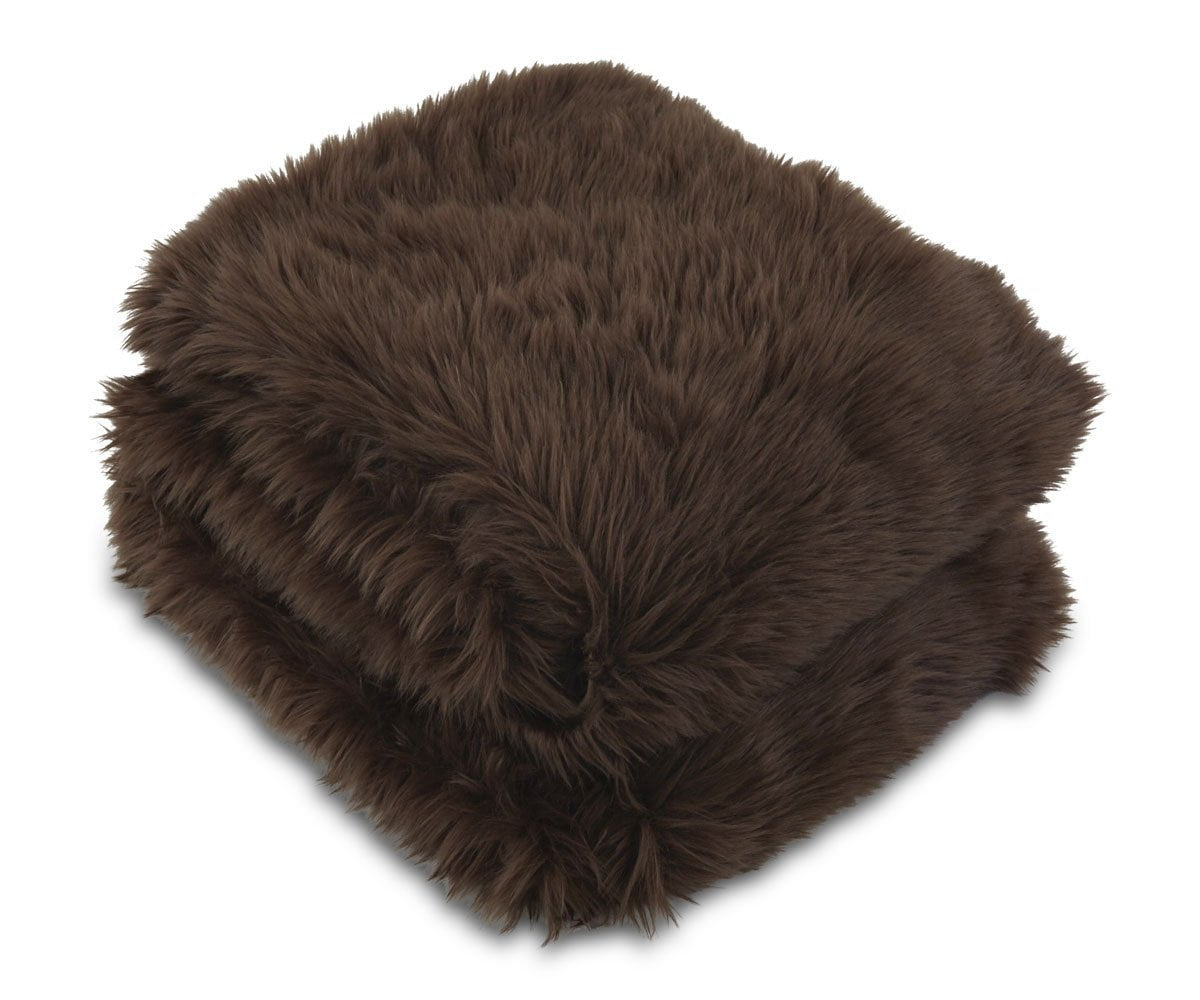 Rorik Faux Fur Throw - Brown - Scandinavian Designs