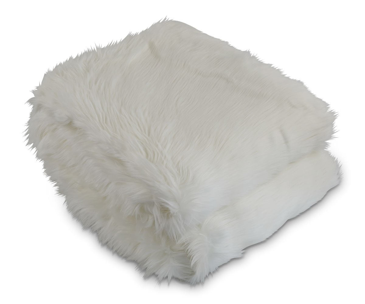 Rorik Faux Fur Throw - White - Scandinavian Designs