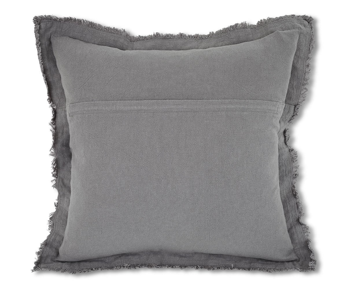 Makron Linen Fringe Pillow Cover - Grey - Scandinavian Designs