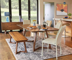 "Cress 87"" Dining Table Walnut - Scandinavian Designs"