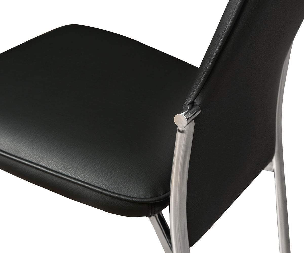Lykke High Back Dining Chair Black - Scandinavian Designs