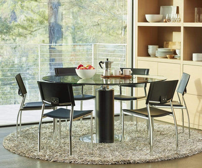 Lauss Glass Dining Table Black - Scandinavian Designs