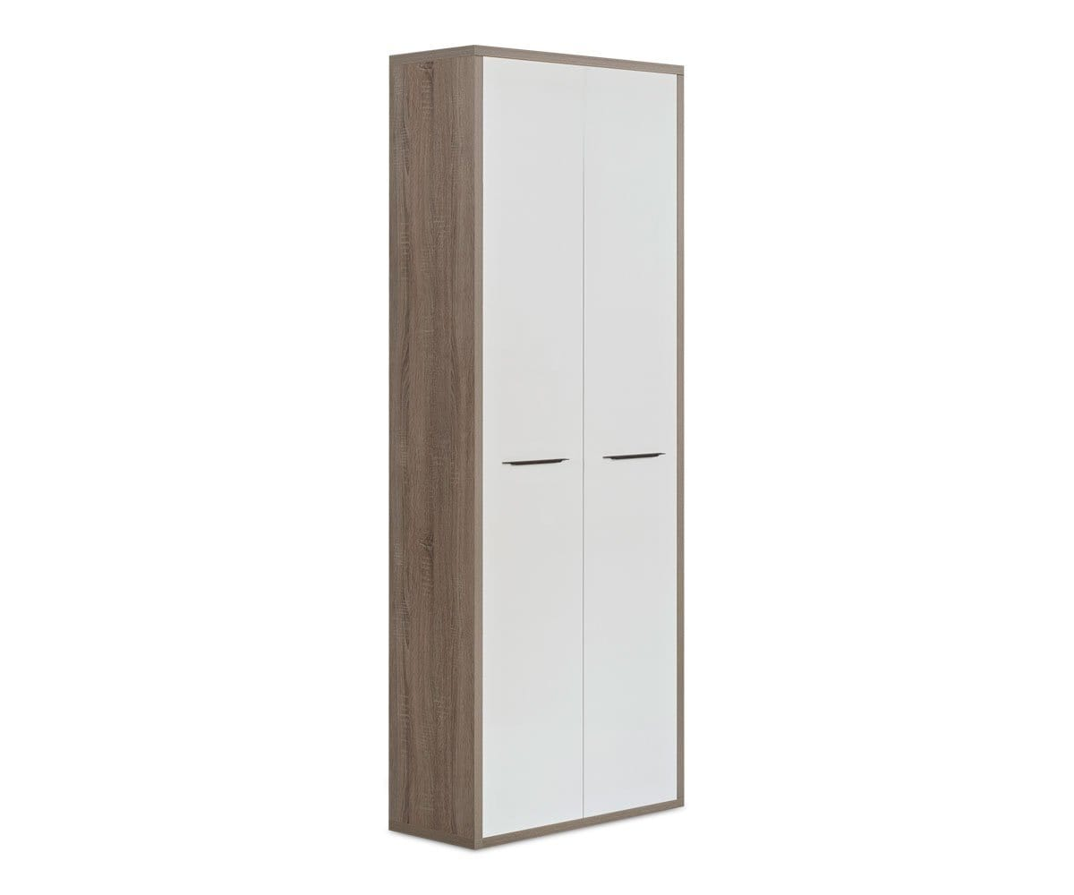 Gammel High Bookcase with Doors TRUFFLE OAK - Scandinavian Designs