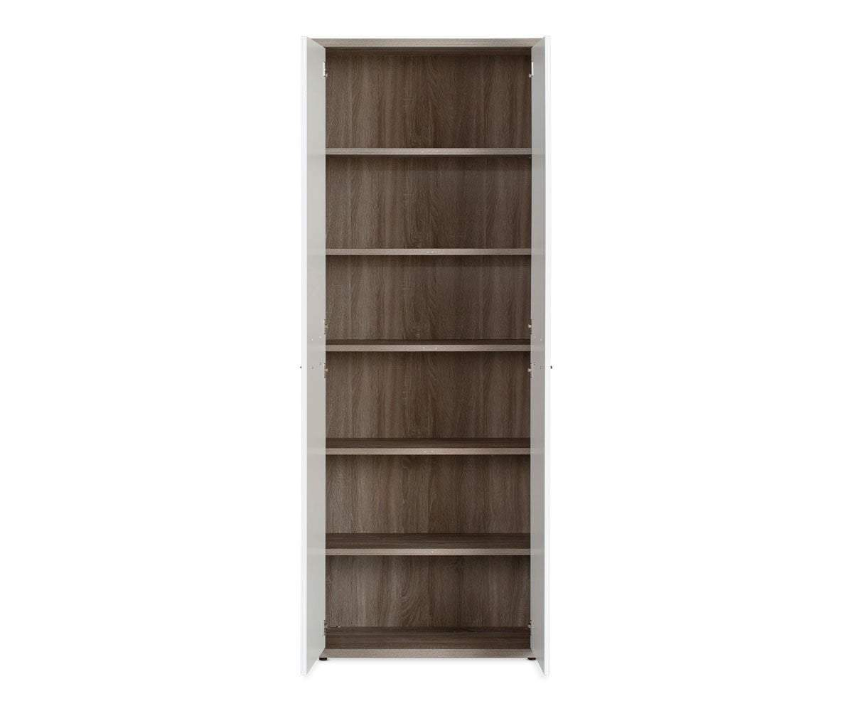 Gammel tall bookcase with doors