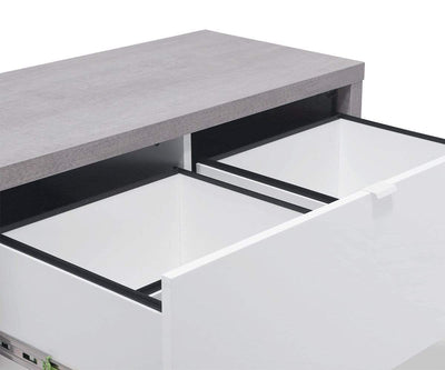 Sten Lateral File White/Cement - Scandinavian Designs