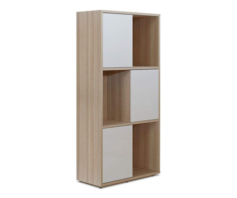Hayden Bookcase WHITE + ASH - Scandinavian Designs
