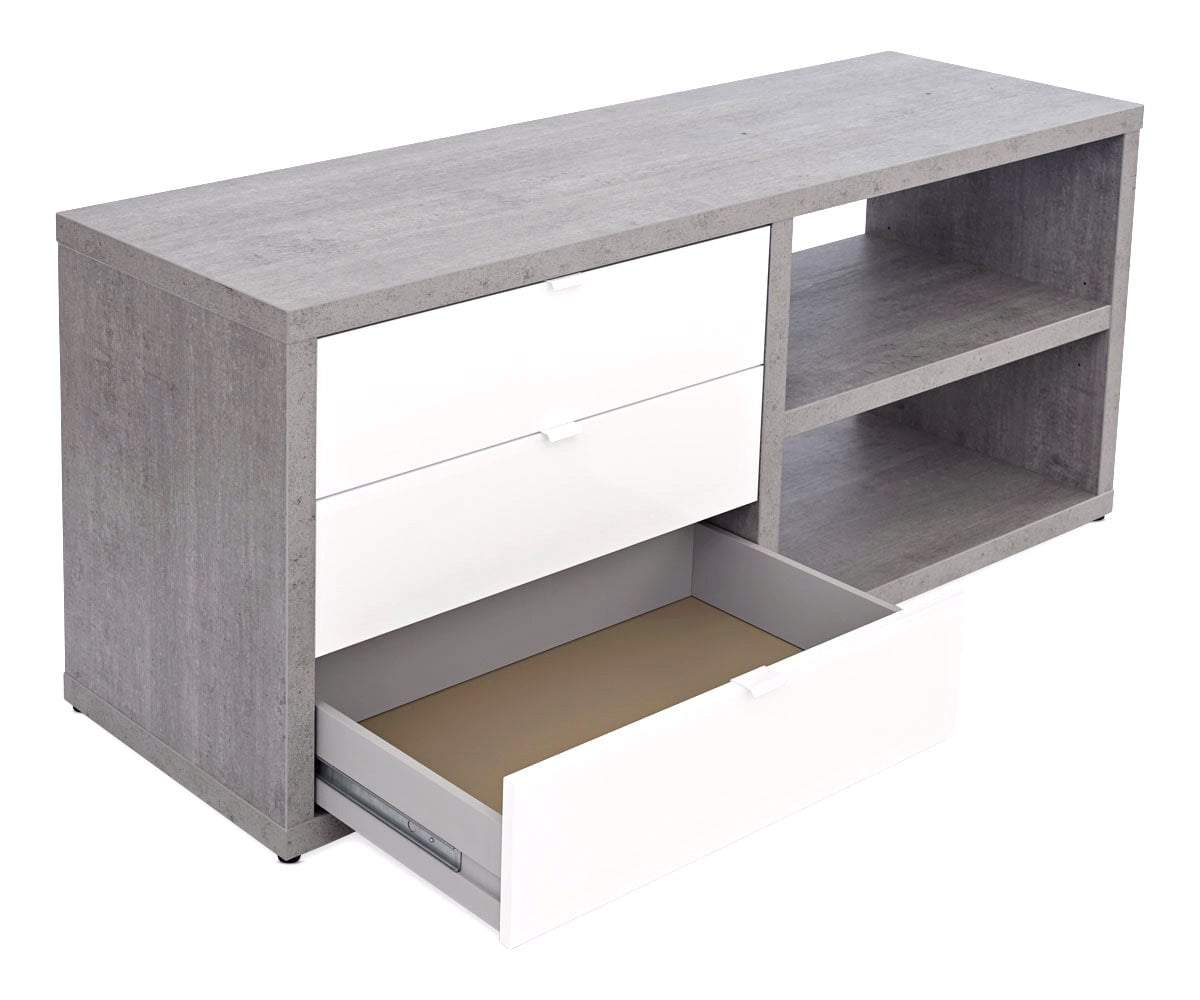 "Sten 60"" Desk With Storage Return - Scandinavian Designs"